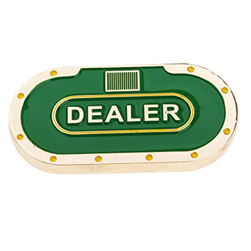 Button Guard Card Dealer - D DOLITY Metal Oval Poker Dealer Button Poker Chip Pressing Poker Card Guard Protection