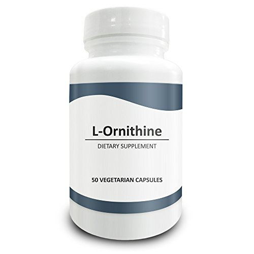 Pure Science L-Ornithine 700 mg - Lowers Ammonia Levels In Body, Promotes Athletic Performance and Muscle Growth, Reduces Fatigue - 50 Vegetarian Capsules of L-Ornithine Powder