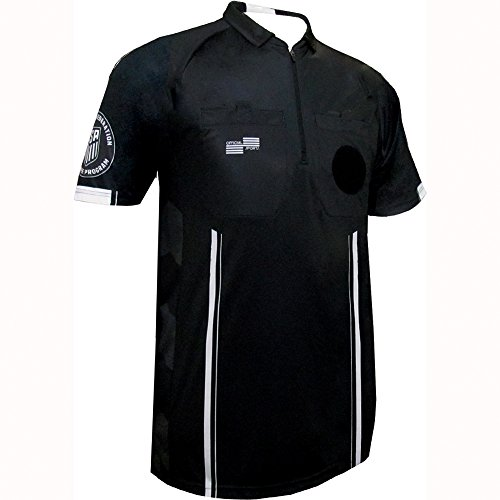 6b5990257 New USSF Men's Pro Soccer Referee Jersey Black SS Shirt (Black X-Large)