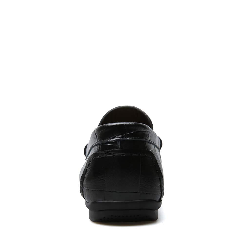 Herren Herren Herren Casual Schuhe Leder Business Flachschuhe Herren lässige weiche Schuhe,braun,40  04968f
