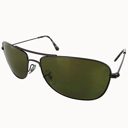 Ray-Ban Men's RB3543 Chromance Polarized Sunglasses, Gunmetal/Green Mirror, 59 - Virtual Sunglasses Mirror