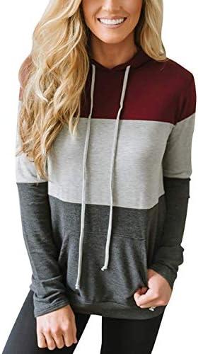 Tasatific Womens Sweatshirts Floral Printed Casual Long Sleeve Hoodie Pullover with Pocket