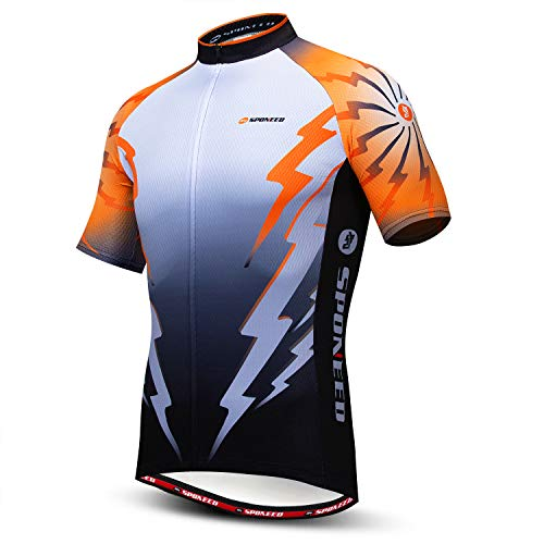 sponeed Men's Cycling Shirt Short Sleeve Biking Jerseys Jacket US Medium