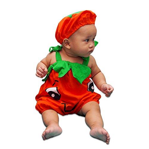 [Infants Pumpkin Cute Costume Unisex-baby ( M (7 - 15months))] (Fruit Costumes For Kids)