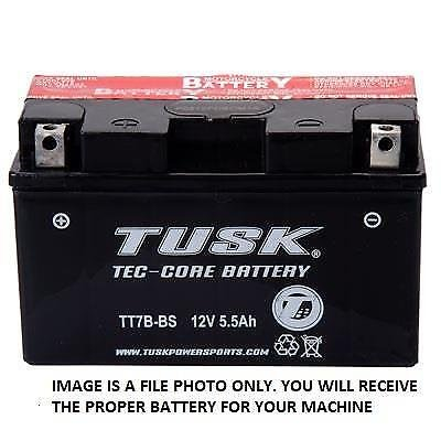 Premium Tusk Tec-Core Battery with Acid – Fits: Bombardier Quest 650 XL 2002–2003