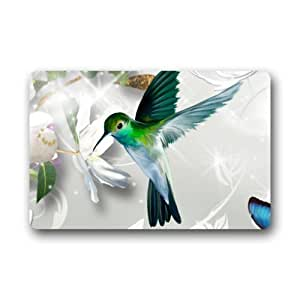 """Hot diseño Flying Hummingbird interior/al aire libre Felpudo 23.6""""(L) X 15,7(W)"""