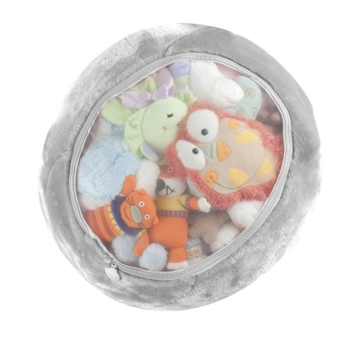 Boon Animal Bag Stuffed Animal Storage,Gray