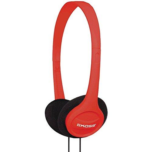 Koss KPH7R Portable On-Ear Headphone with Adjustable Headband - Red by Koss