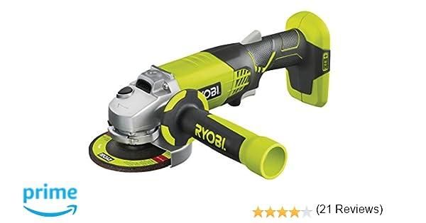 Ryobi R180AG-0 - Amoladora angular (7500 RPM, Negro, Verde, Batería ...