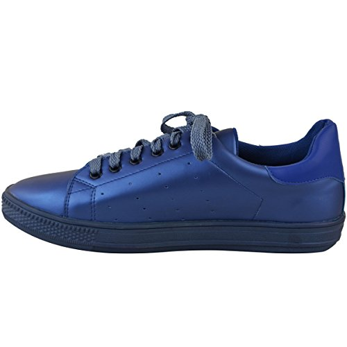 Sport Fashion Roi Thirsty Velcro Taille Lacet Baskets Rétro Classics Femmes Bleu Tennis aUraqHP0