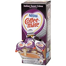 Nestle Coffee-mate(R) Liquid Creamer Singles, Italian Sweet Creme, 0.38 Oz, Box Of 50