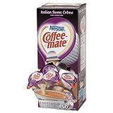 Coffee-mate 84652 Liquid Coffee Creamer, Italian Sweet Creme, 0.375 oz Cups, Box of 50