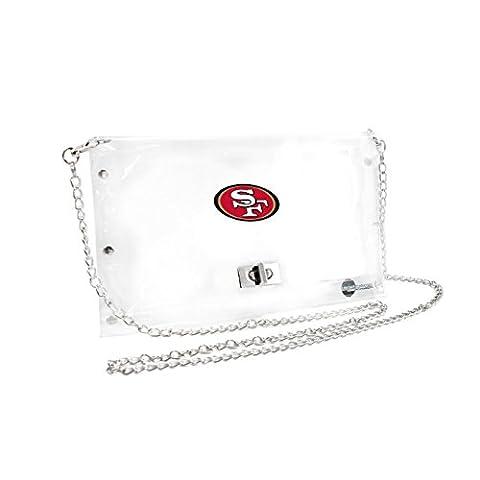 NFL San Francisco 49ers Clear Envelope Purse, 10 x 5 x 6.5-Inch, Clear - San Francisco 49ers Nfl Football