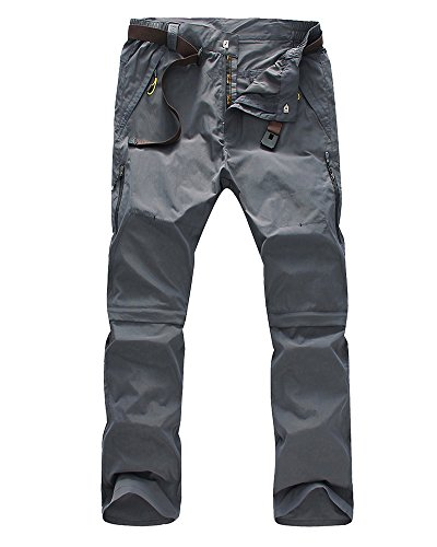 zip off cargo pants men - 5