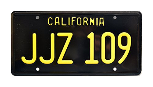 Celebrity Machines Bullitt   JJZ 109   Metal Stamped License Plate