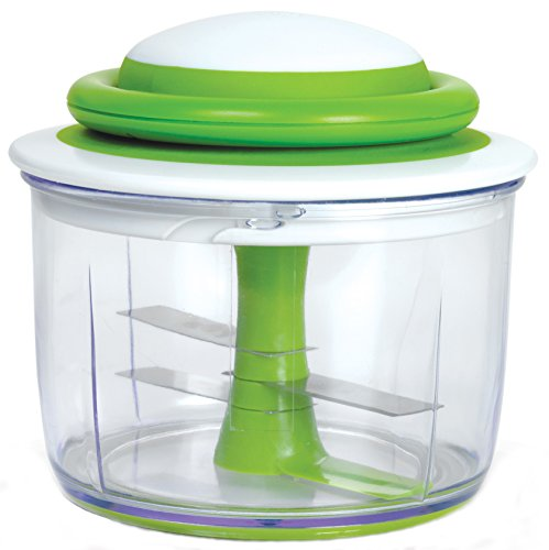 Chop Vegetable Chopper (Chef'n VeggiChop Hand-Powered Food Chopper (Arugula))
