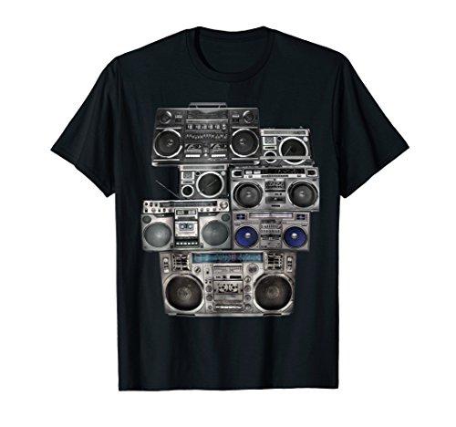 Retro 80s Boom Box Ghetto Blaster Radio Stack (Mens Boombox)