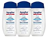 Aquaphor Baby Wash and Shampoo - Mild, Tear-Free 2-in-1 Solution for Baby's Sensitive Skin - 8.4 fl. oz. Bottle (Pack of 3)