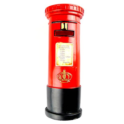 Chadstone Retro Resin Post Box Ornament British Royal Mailbox Piggy Bank Saving Box Coin Case - Chadstone Kids