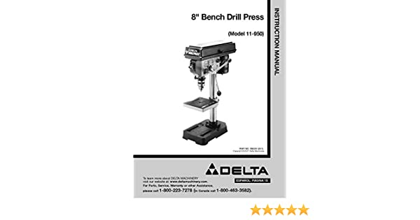 delta drill press 11 950 manual