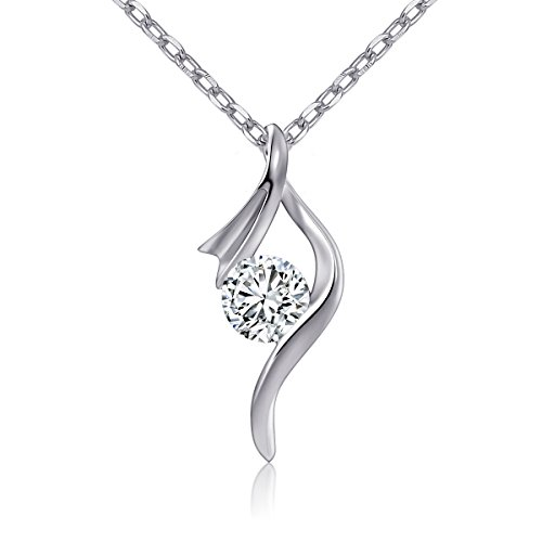 ATHENAA-S925-Sterling-Silver-Red-Ribbon-Symbol-with-Cubic-Zirconia-Pendant-Necklace-For-Women-18