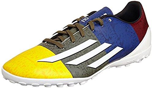 Adidas Multinockenschuhe F5 Fußballschuhe TF (messi) Sogold/ftwwht/eargrn, Größe Adidas:9.5