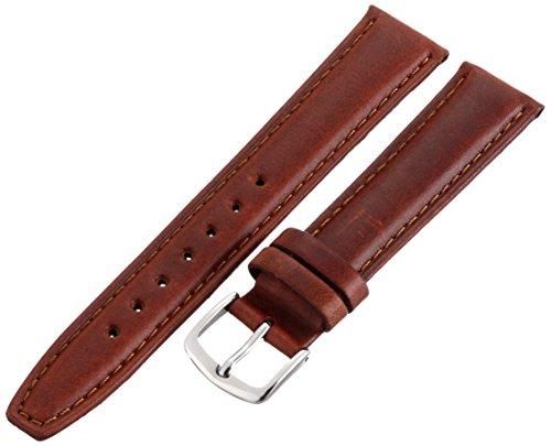 Hadley-Roma Men's MSM881RAC-180 18-mm Honey Oil-Tan Leather Watch Strap ()