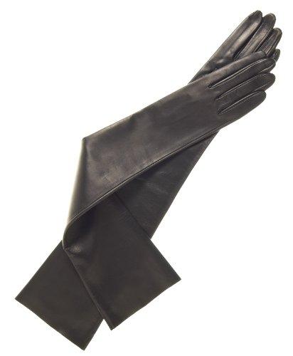 Fratelli Orsini Women's Italian Unlined Opera Length Leather Gloves Size 7 1/2 Color Black by Fratelli Orsini