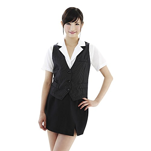 [Be With] OL Fashion 4 / navy blue pin striped vest with OL uniform (japan import) ()