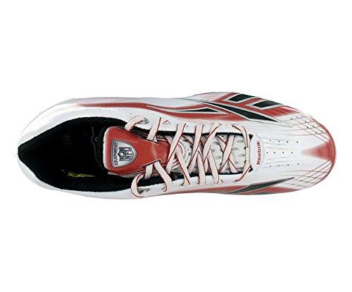 Reebok Mens Nfl Burner Speed Lt Low Sd4 Scarpe Da Calcio Bianco / Rosso / Nero