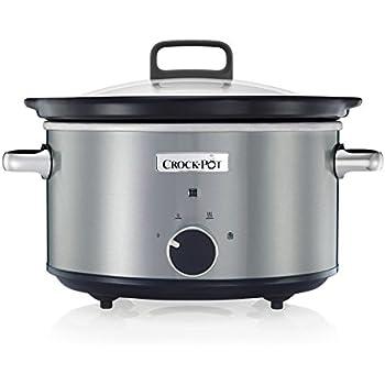 Crock-Pot SCR300-SS 3-Quart Manual Slow Cooker, Silver