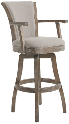 Impacterra QLGL217274091 Glenwood Swivel Stool with Arms, 30