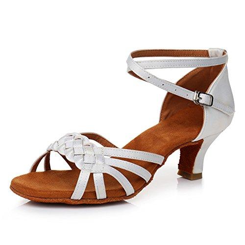 Tac¨n Blanco Latin Zapatos Ballroom modelo EST¨ndar Baile 5cm Mujer de LP218 SWDZM PnOwBAqzxq