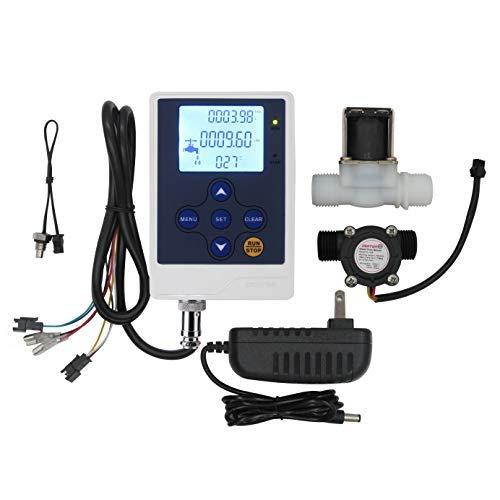 DIGITEN Water Flow Control Meter LCD Display Controller+G1/2