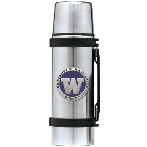 UNIVERSITY OF WASHINGTON HUSKIES 1 LITER STAINLESS STEEL THERMOS by HER001