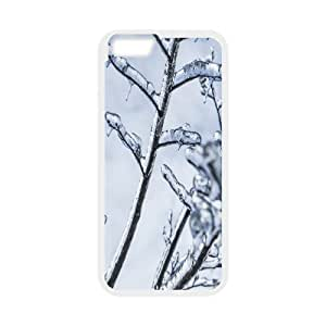 {freeze Series} IPhone 6 Plus Cases Branches Engulfed in Ice, Mens Designer Case Sexyass - White WANGJING JINDA
