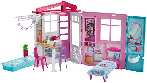 Toy House Playset - Barbie Doll House Playset, Multicolor