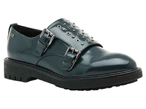 Mustang Shoes - Zapatillas de Piel Para Mujer Verde Verde Oscuro
