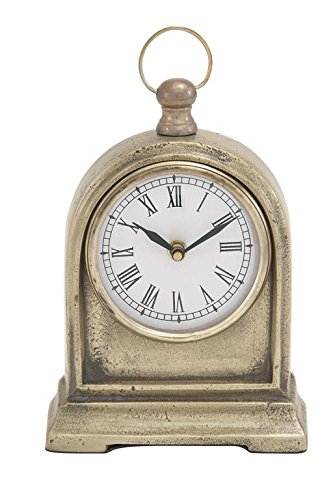 Deco 79 Aluminum Table Clock, 6 by (Deco Desk Clock)