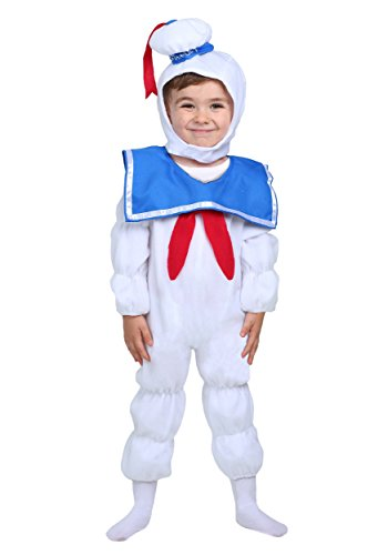 Marshmallow Halloween Costumes (Rubie's Baby Classic Ghostbusters Ez-on Stay Puft Romper Costume, White, Toddler 2T)