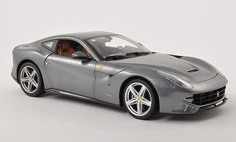 Unbekannt Ferrari F12 Berlinetta Met Dkl Grau Modellauto Fertigmodell Mattel 1 18 Spielzeug