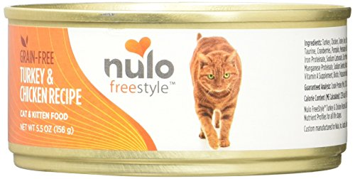 Nulo Grain Free Canned Wet Cat Food (Turkey & Chicken, 5.5 oz, Case of 24)