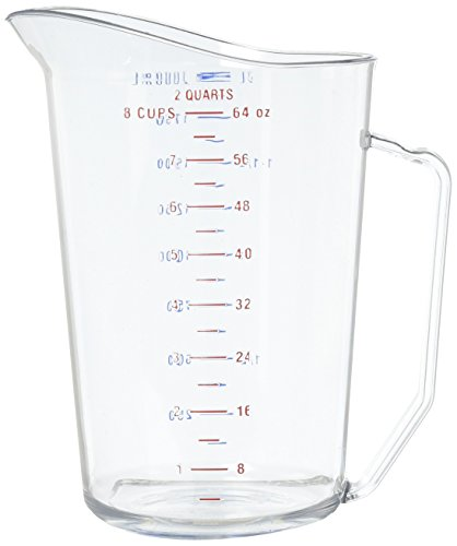 - Cambro 200MCCW 2 qt Capacity, Camwear Clear Polycarbonate Liquid Measuring Cup