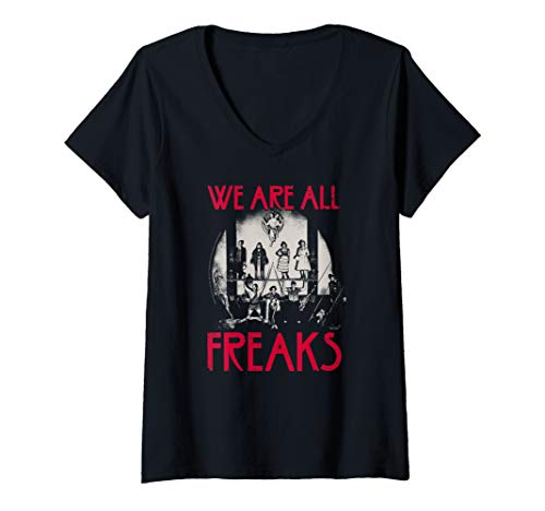 Womens American Horror Story We Are All Freaks Group V-Neck T-Shirt