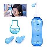 Sinus Rinse 500ml Nasal Irrigation - HailiCare Nose Cleaner for Nose Wash, Nose Washer (500ml Bottle)