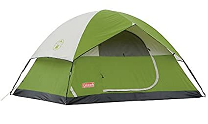 ccf26a443ea Amazon.com : Coleman SunDome 4 Person Dome Tent (Green ...