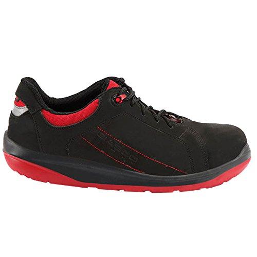Giasco SPORT - Calzado de protección para hombre, color multicolor, talla multicolor - negro/rojo