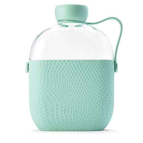 Hip 22-oz Tritan Water Bottle with Textured Silicone Sleeve and Side-Strap, BPA-Free (Mint)