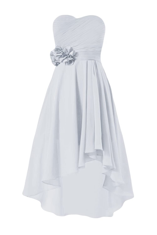 DaisyFormals Chiffon Party Dress W/Floral Details High Low Dress (BM2436)