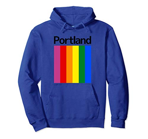 Portland Rainbow Square Design - Portland Oregon Pullover Hoodie